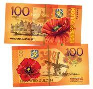 100 Honderd Gulgen(гульденов) - Нидерланды(Nederland). Памятная банкнота. UNC