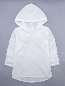 00-0024821  Рубашка-туника детская пляжная, белый