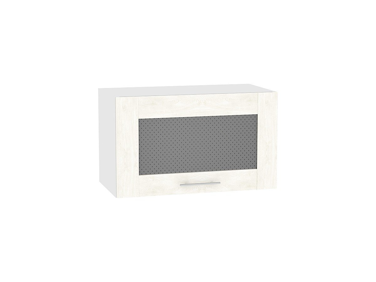 Шкаф верхний Лофт ВГ610 со стеклом (nordic oak)