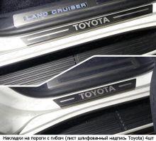 Накладки на пороги ТСС, матовая сталь, выбор логотипа
