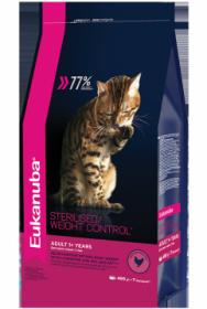 Eukanuba Sterilised для стерилизованных кошек с избыточным весом