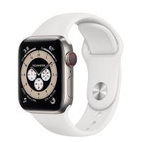 Часы Apple Watch Edition Series 6 GPS + Cellular 40mm Titanium Case with White Sport Band