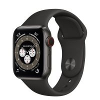 Часы Apple Watch Edition Series 6 GPS + Cellular 40mm Space Black Titanium Case with Black Sport Band