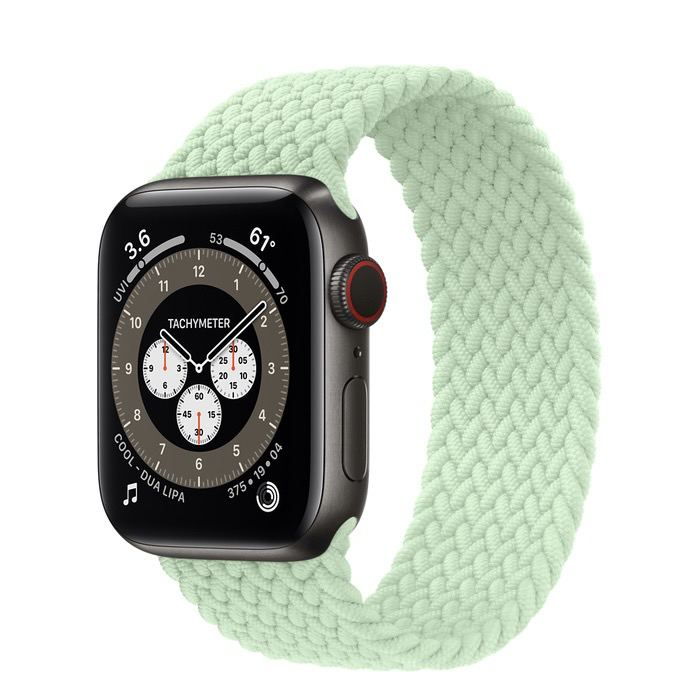 Часы Apple Watch Edition Series 6 GPS + Cellular 40mm Space Black Titanium Case with Pistachio Braided Solo Loop