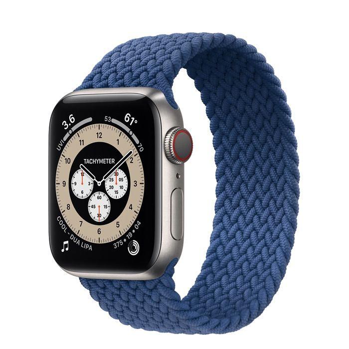 Часы Apple Watch Edition Series 6 GPS + Cellular 40mm Titanium Case with Atlantic Blue Braided Solo Loop