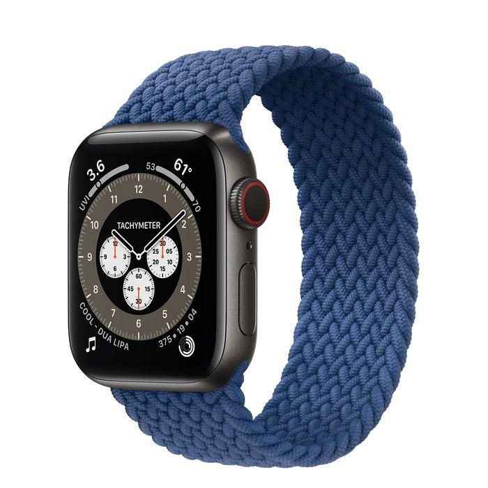 Часы Apple Watch Edition Series 6 GPS + Cellular 40mm Space Black Titanium Case with Atlantic Blue Braided Solo Loop