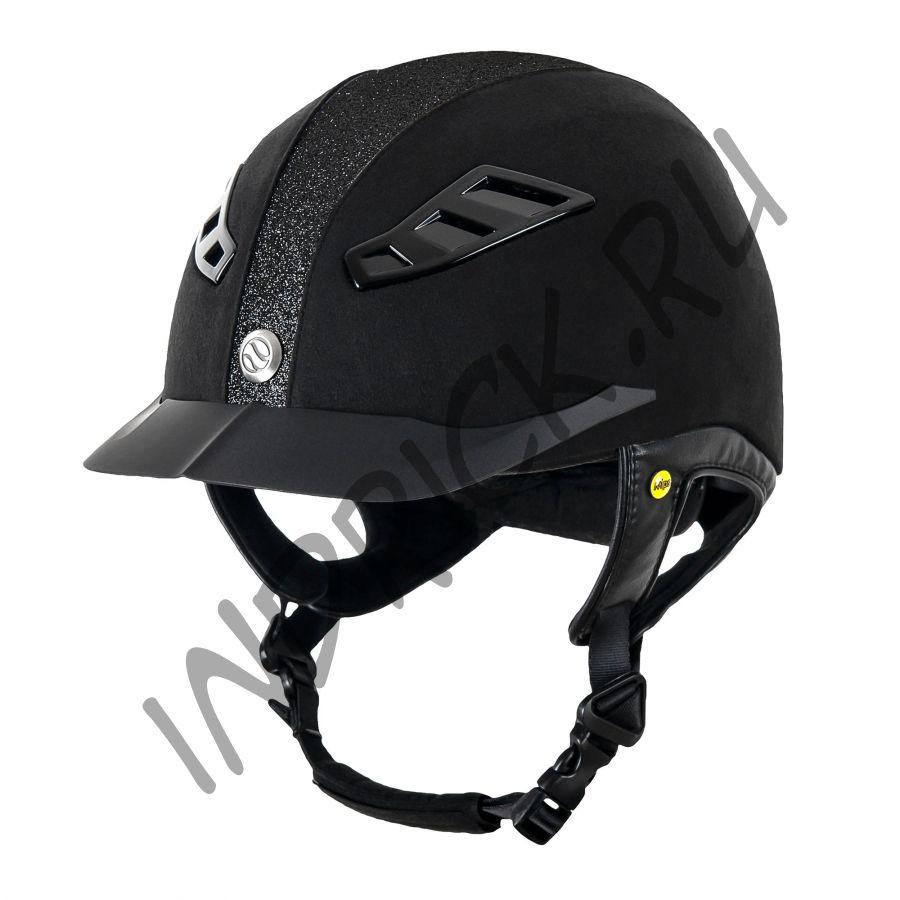 Шлем для верховой езды EQ3 Lynx Microcoup Черный Песок