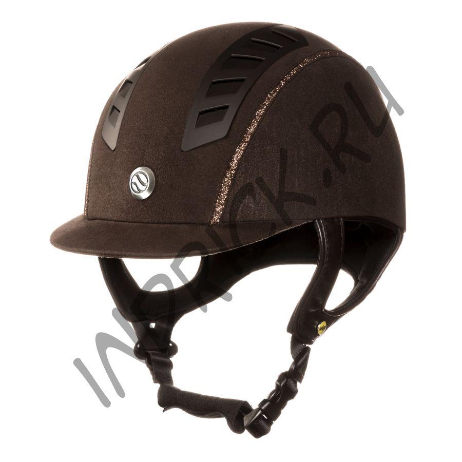Шлем для верховой езды EQ3 Коричневая Замша