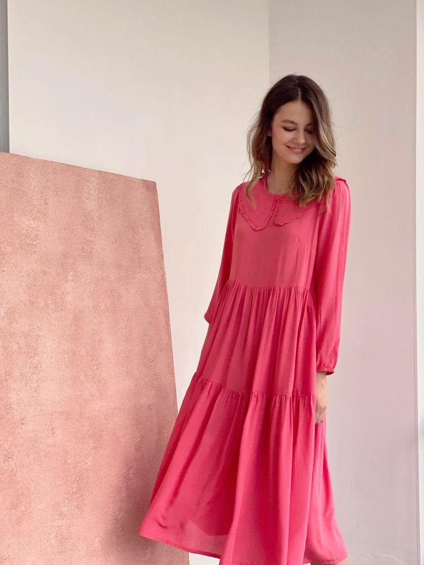 4324 Платье в ретро-стиле ягодное