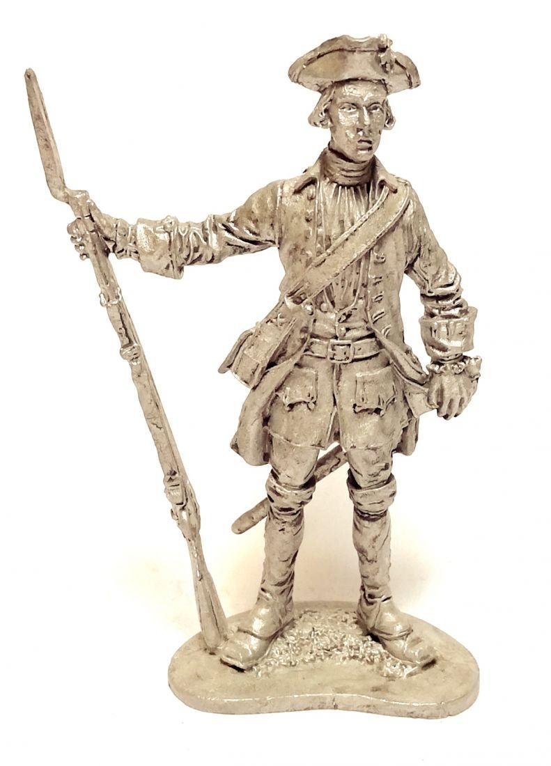Фигурка Фузелёр армейской пехоты. Россия, 1732-42 гг. олово