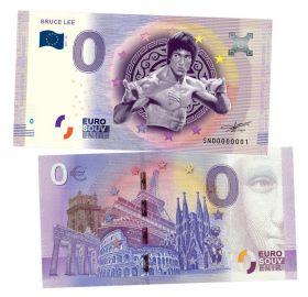 0 ЕВРО - Брюс Ли (Bruce Lee). Памятная банкнота