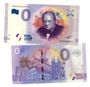 0 ЕВРО - Уинстон Черчилль (Winston Churchill). Памятная банкнота