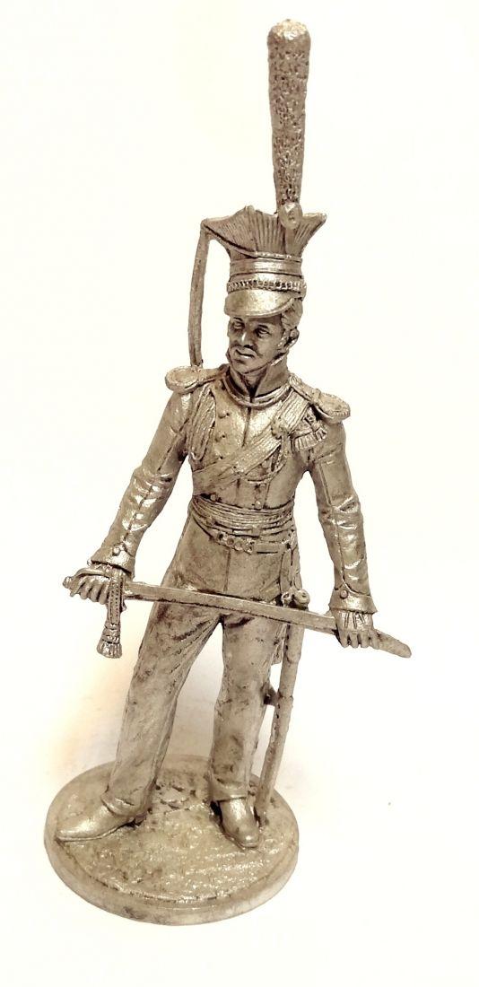 Фигурка Обер-офицер Литовского уланского полка. Россия 1811-14 г олово