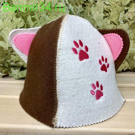 """Детская шапка """"Кошка"""" с ушками"""