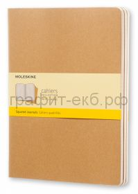 Книжка зап.Moleskine XLarge Cahier клетка бежевая QP422