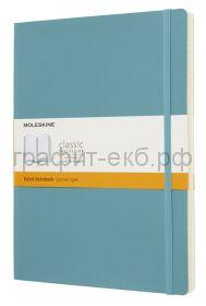 Книжка зап.Moleskine XLarge Soft Classik линейка голубой QP621В35