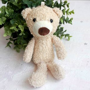 Игрушка для куклы, медвежонок бежевый, 20 см.