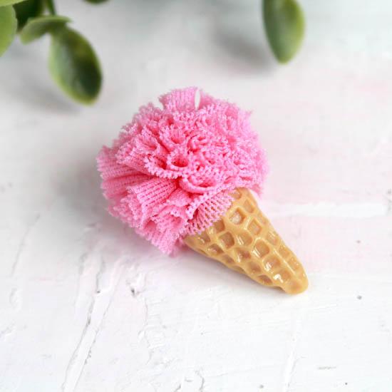 Кукольный аксессуар - Мороженое малиновое 3 см.