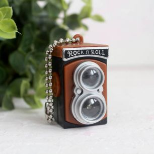 Ретро фотокамера для игрушек, коричневая