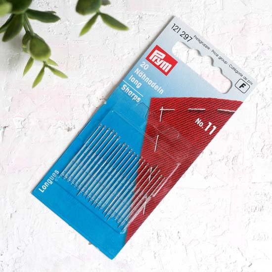 PRYM Иглы ручные для шитья с тонким острием № 11 уп.20 шт.