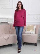 Джемпер для беременных и кормящих, бордовый 2-НМ 42810