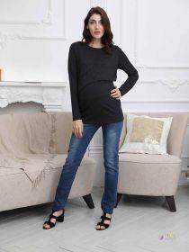 Джемпер для беременных и кормящих, черный 2-НМ 42810