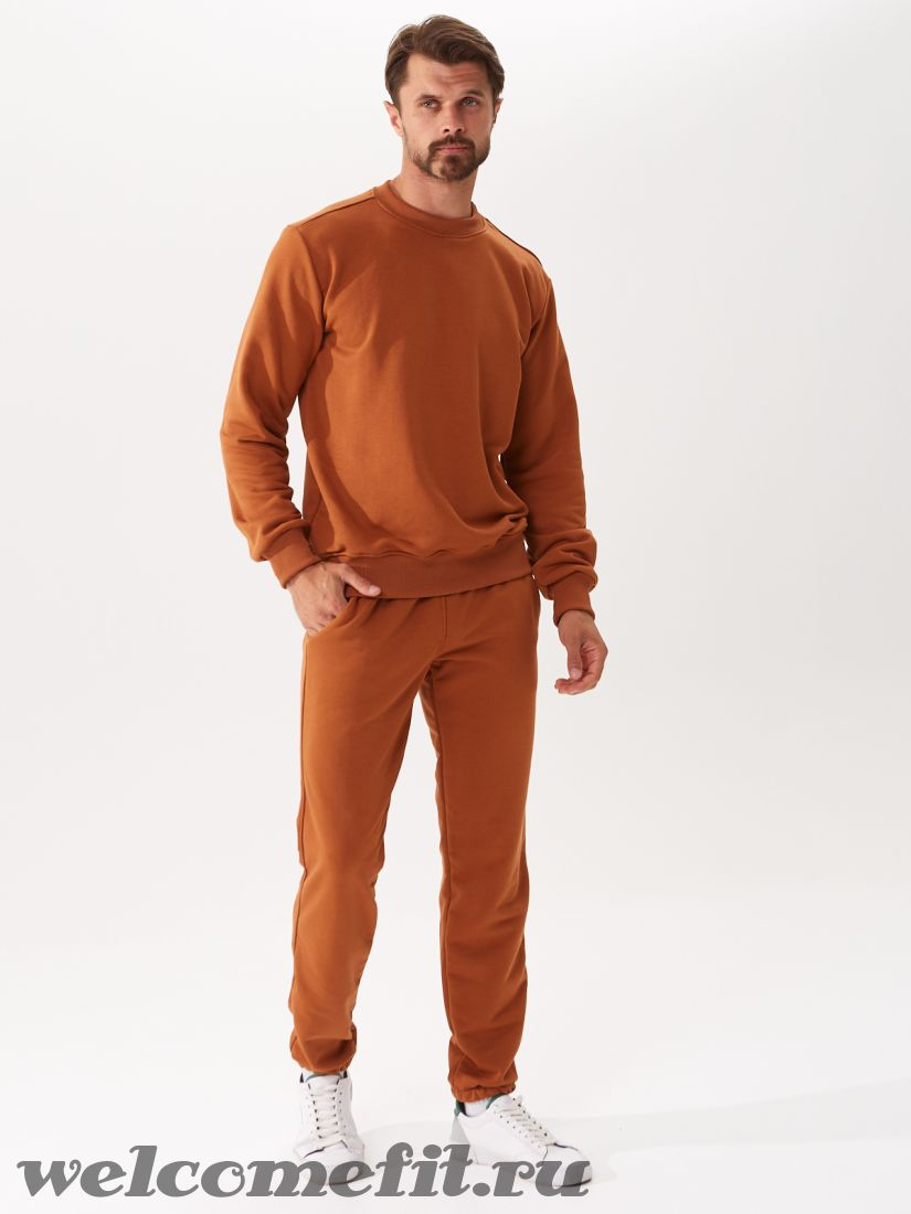 Костюм свитшот и брюки мужской - карамель