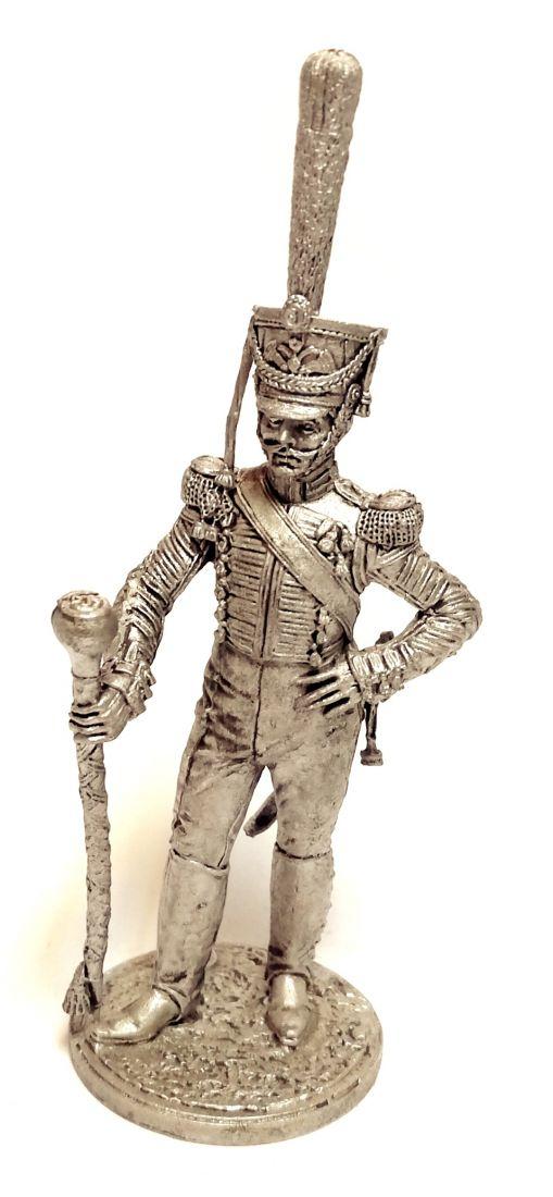 Фигурка Тамбурмажор Лейб-гвардии Измайловского полка. Россия, 1814-15 гг. олово