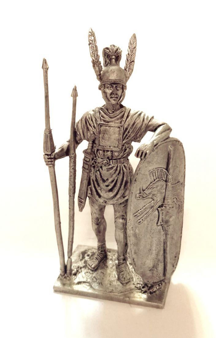 Фигурка Римский легионер, 3-2 вв. до н.э. олово