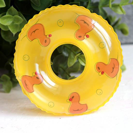 Кукольный аксессуар - Желтый надувной круг, 9 см.