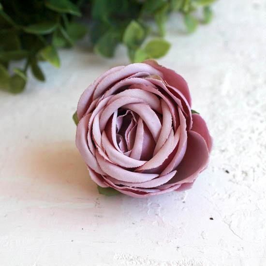 Бутон розы 4,5 см. - тканевый пыльно-розовый