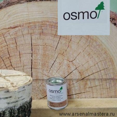 Цветное масло с твердым воском Osmo Hartwachs-Ol Farbig слабо пигментированное 3067 светло-серое 0,125 л