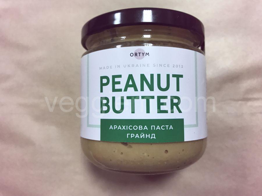 Натуральная арахисовая паста грайнд, ORTYM, 180 грамм, стекло
