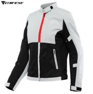 Куртка женская Dainese Risoluta Air Tex, Светло-серая с красным