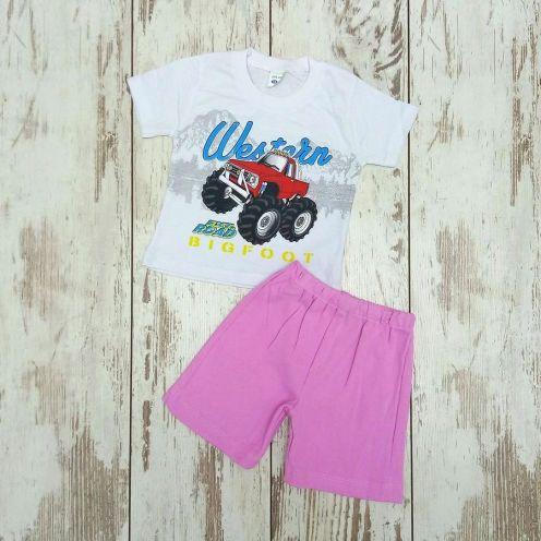 Костюм биг фут белый: футболка, шорты