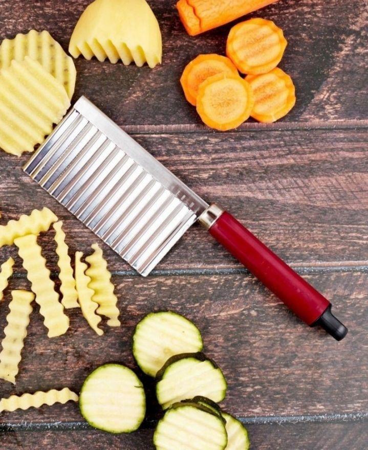 Кухонный волнистый нож для фигурной нарезки овощей (6100)