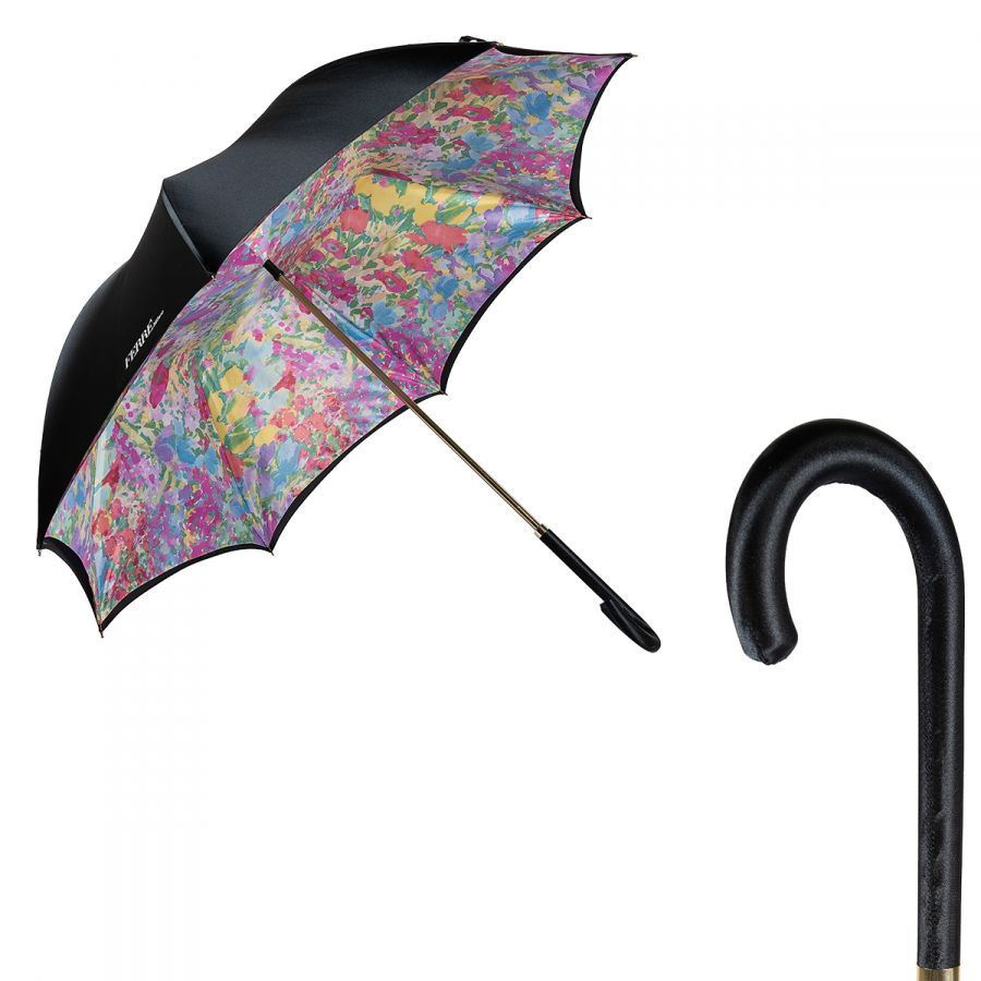 Зонт-трость Ferre 1655-LM Pastel Black Atlas