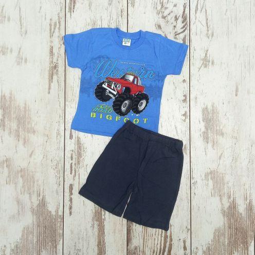 Костюм биг фут синий: футболка, шорты