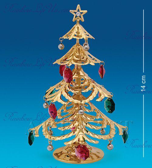 """Фигурка Новогодняя елка с цветными камнями """"Swarovski"""""""