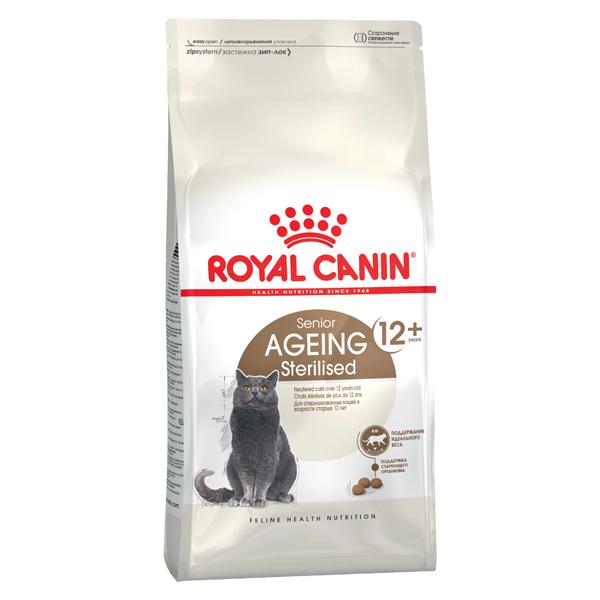 Сухой корм для стерилизованных пожилых кошек Royal Canin Ageing Sterilised 12+ 4 кг
