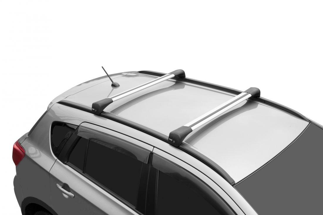 Багажник на крышу Chery Tiggo 7 Pro, Lux Bridge, крыловидные дуги (серебристый цвет)