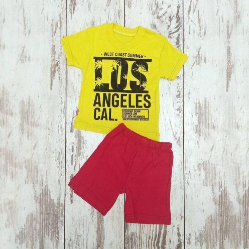 Костюм LOS желтый: футболка, шорты
