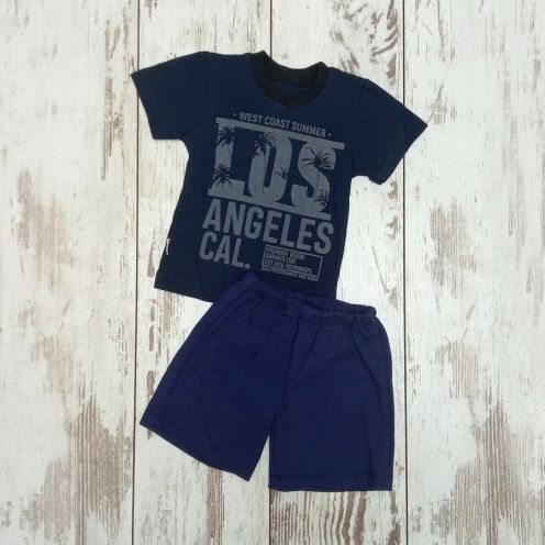 Костюм LOS синий: футболка, шорты
