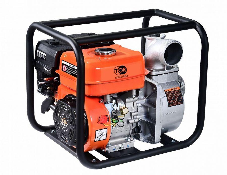 Мотопомпа бензиновая для грязной воды  TOR KM80SP 50 м3/час