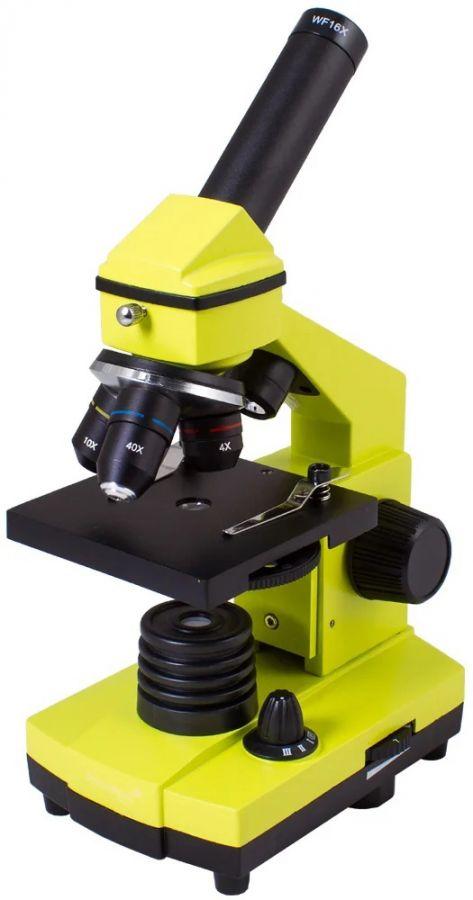 Микроскоп LEVENHUK Rainbow 2L PLUS lime