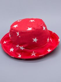 00-0026532  Панама для мальчика, белые звезды, красный