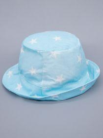 00-0026635  Панама для мальчика, белые звезды, бирюзовый
