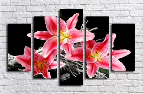 Модульная картина Три лилии