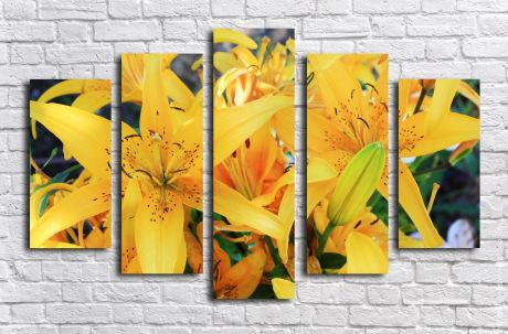 Модульная картина с Желтыми лилиями