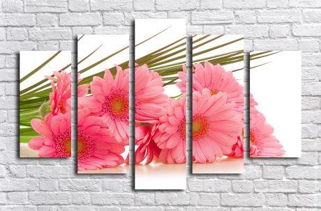 Модульная картина Розовые герберы